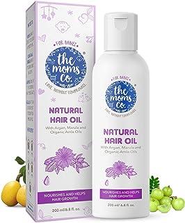 Virgin Coconut Oil | The Moms Co. Natural 10-in-1 Baby Hair Oil with Argan Oil, Marula, Avocado, Bhringraj Oil and USDA-Ce...