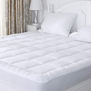 Twin Mattress Pad Cover Fitted Hypoallergenic Down Alternative Quilted Pillow Top All Seaons Hotel Quality Mattress Cover