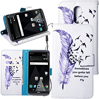 LG Aristo Case, LG Fortune Case, LG Phoenix 3 Case, LG K8 2017 Case, Linkertech [Kickstand Feature] PU Leather Wallet Flip Pouch Case Cover with Wrist Strap & Card Slots for LG K8 2017 / LV3 (B-1)