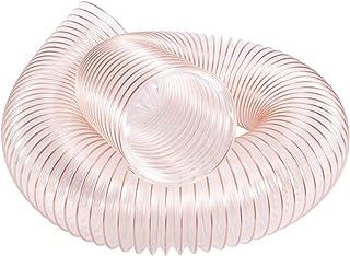 Hon&Guan 100mm Transparenter Abluftschlauch Flexibel PVC - 2m Lang Aluminium Flexschlauch Lüftungsschlauch 100mm