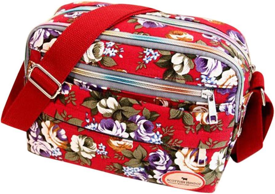 Goddessvan Super online shop popular specialty store Fashion Women Floral Canvas Bag Crossbody Ba Shoulder