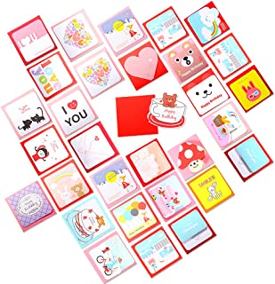 Geekper 40 Pack Greeting Cards - Assorted Thank You Note Cards for Wedding Birthday - Envelopes Included 2.7 x 2.7 inch