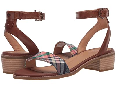 Sperry Seaport City Sandal Ankle Strap Woven Leather (Cathay Spice/Kick Back Plaid) Women
