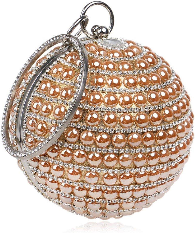 Ladies Handbag Ladies Ball Evening Bag Diamond Clutch Bags Party Prom Wedding Purse Handbag Cross Body Bag (color   golden, Size   12.5  12.5  12.5cm)