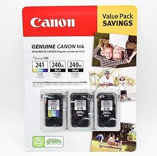 Canon PG-240XL/CL-241 Ink Tank Cartridge, Black/Tri-Color (3 cartridges)