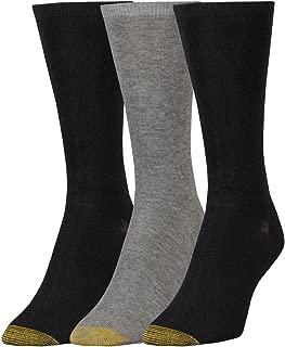 Gold Toe Women's Non-Binding Flat Knit Crew Socks, 3 Pairs