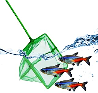 JOR Neon Tetra Net, Green Fine Mesh Ideal for Catching Small Fishes, with Sturdy Handle and Comfortable Grip, 1 Pc per Pack thumbnail