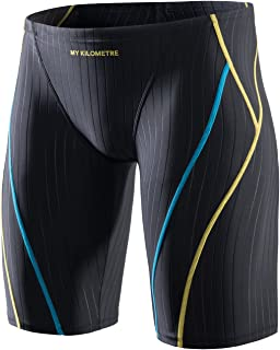 MY KILOMETER Jammer لباس شنا مردانه لباس شنا جامد جامد تحمل طولانی مسابقه آموزش لباس شنا