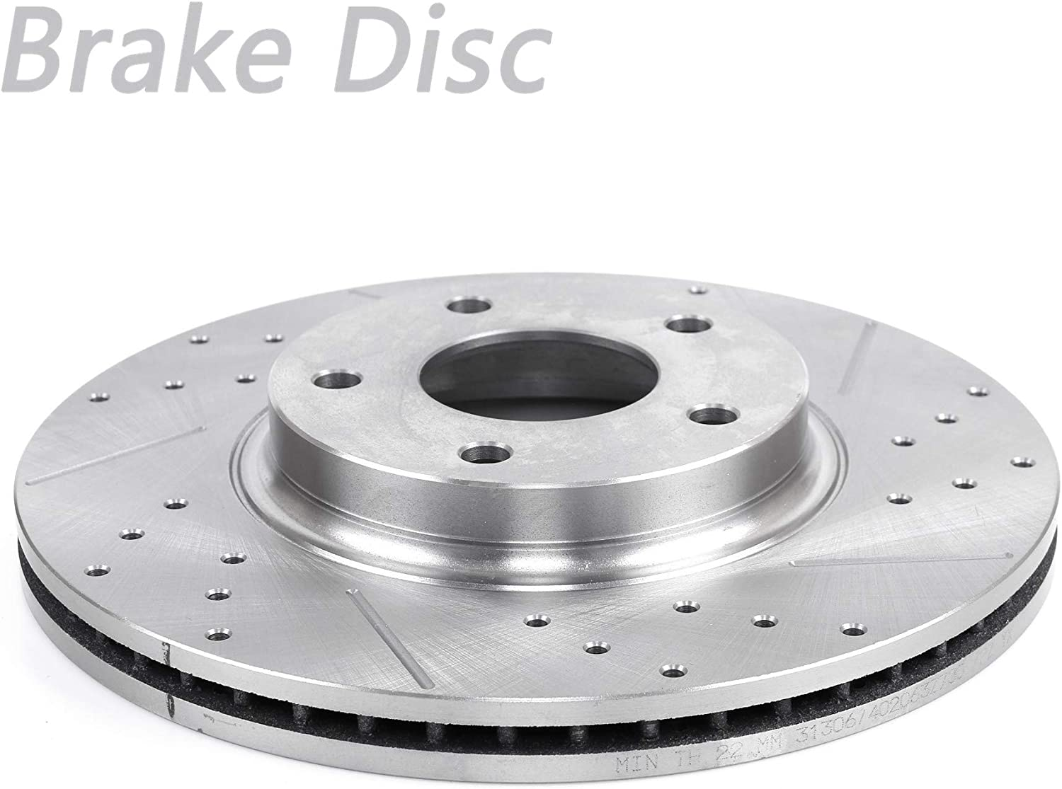 PISKEKAT 1Pcs Front Right Drilled Vented Great interest Dis Slotted Rotor Brake National products