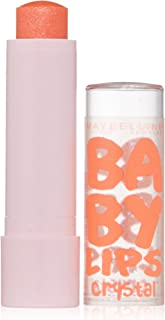 Maybelline New York Baby Lips Crystal Lip Balm, Gleaming Coral, 0.15 Ounce