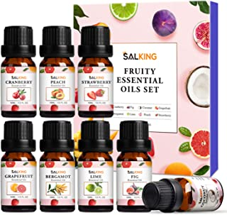 Fruity Essential Oils Set 8x10ml, Pure Essential Oils Gift Set for Diffusers, Humidfiers, Massage - Coconut, Cranberry, Gr...