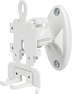 DYNAVISTA Speaker Wall Mount for Sonos Play 1 and 3 - Adjustable Full Motion Speaker Mount Bracket with Tool-Free Swivel and Tilt, White