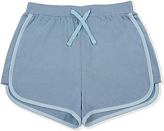 JIAHONG Kids Girls 100% Cotton Running Shorts Summer Active Shorts with Drawstring 3-12 Years