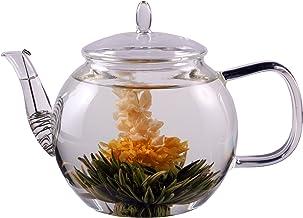 Feelino Młot cenowy: dzbanek do herbaty i kawy 1300 ml z sitkiem w wylocie i szklaną pokrywką, idealny dla 2 osób, edycja ...