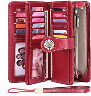 Sendefn RIFD Bloking Genuine Leather Short Small Wallets Purses for Women Men Retro Female Coin Purses Card Holder Organiz...