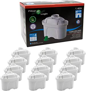 12 x FilterLogic FL402H - Cartouche filtrante compatible BRITA Maxtra pour fill & enjoy Elemaris / Marella / Navelia / Opt...