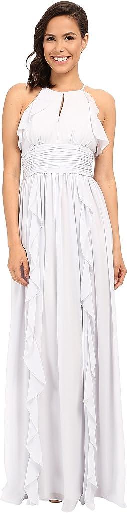 Donna Morgan - Skye Cutaway Halter Gown