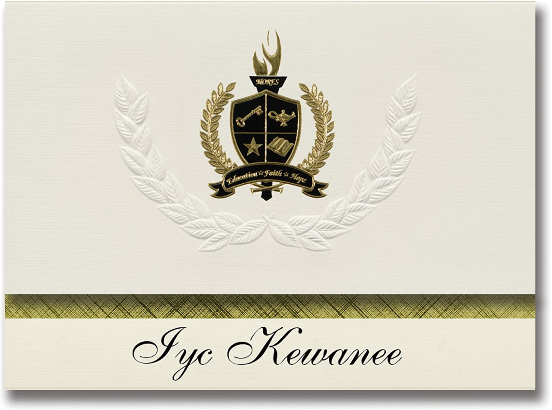 Signature Ankündigungen IYC Kewanee (Kewanee, (Kewanee, (Kewanee, Il) Graduation Ankündigungen, Presidential Stil, Basic Paket 25 Stück mit Gold & Schwarz Metallic Folie Dichtung B0795S7RSP | Speichern  59a858