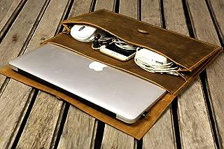 Funda de cuero hecha a mano para nueva macbook 12 / macbook air 11 13 / funda macbook pro retina / funda de cuero para laptop - MACX05S-B