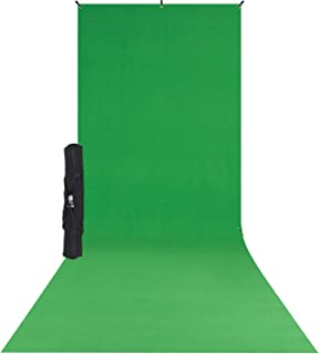 Westcott X-Drop Wrinkle-Resistant Photography and Video Conference Backdrop Kit - Chroma-Key Green Screen Sweep (5` x 12`)...