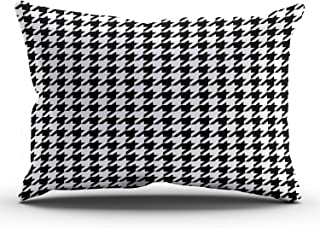 Best black and white houndstooth pillows Reviews