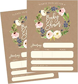 Best rustic baby shower invitations for girl Reviews
