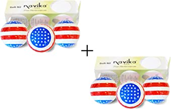 Navika Patriotic USA Flag Golf Balls Como 2 Pack (Sleeve of 3 Balls)