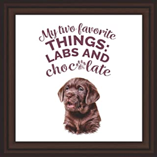 Labrador Retriever Gifts | 7x7 Tile Artwork Ideal for Labrador Lovers | Great Gift Idea for Black or Chocolate Lab Owner | Themed Art Print Special for Home Decor | Perfect for Men, Women, and Kids