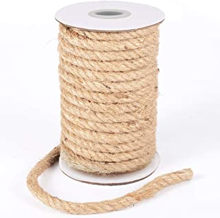 HOMYHOME Jute Rope Natural Jute Twine 10 mm Hemp Rope Cord Craft for Packaging Arts,Crafts Decoration Bundling Gardening Home 32 Feet