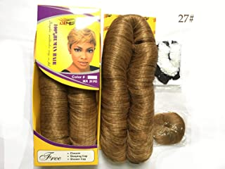 Wholesale 27 Pieces Blonde Short Weave Human Hair Extensions Virgin Peruvian Hair With Closure Sexy Pixie Bump Hair Weave For Black Women (27#)