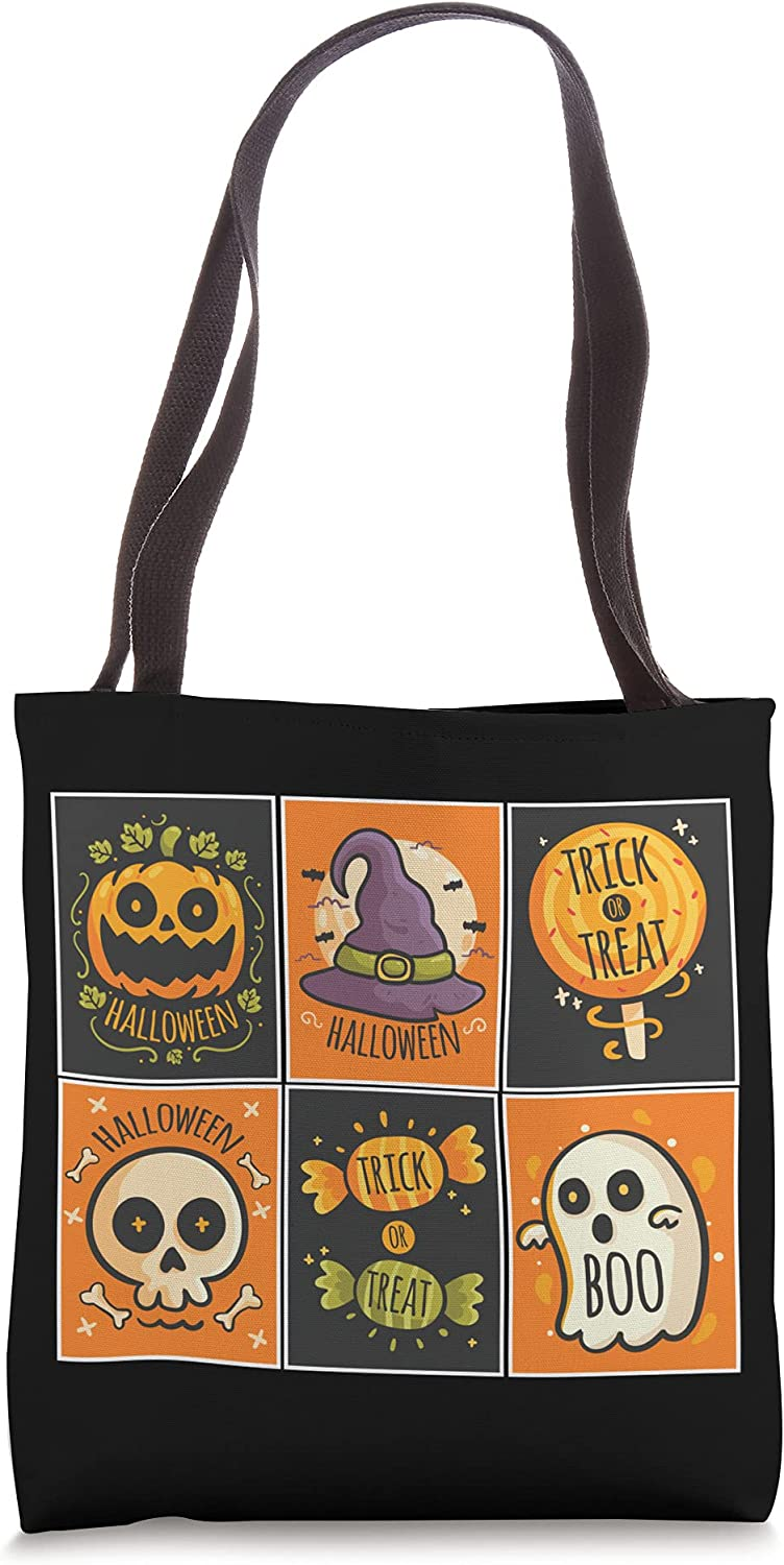 Halloween Cards Lazy Costume Cute Trick Or Treat Tote Bag