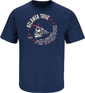 Smack Apparel Atlanta Baseball Fans. Atlanta True 'Til The Day I'm Through Navy T-Shirt (Sm-5X)