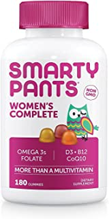 Smarty Pants Women's Complete Gummy Vitamins: Multivitamin, CoQ10 & Omega 3 Fish Oil (DHA/EPA Fatty Acids), 180 Count - (2...
