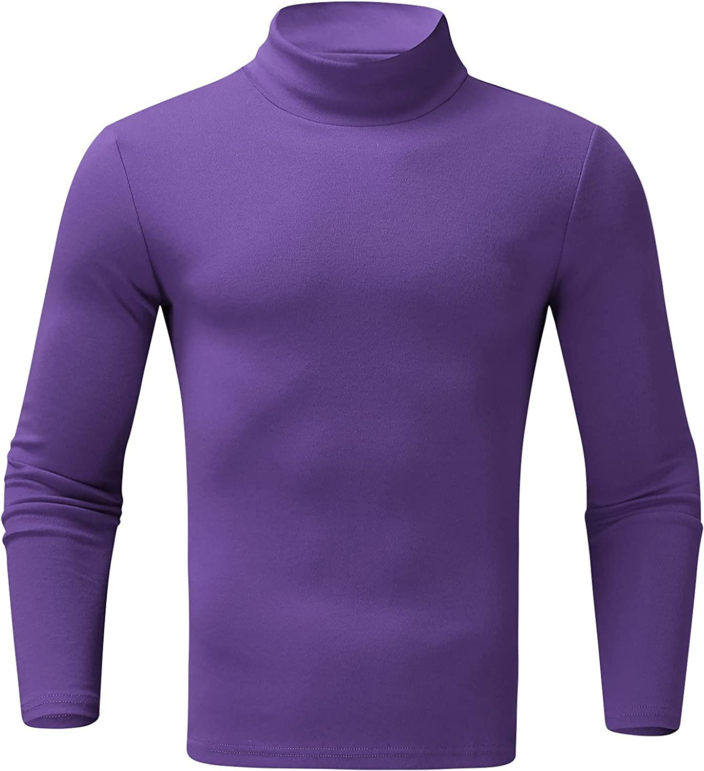 Mens Casual Slim Fit Turtleneck Thermal Baselayers Shirts Lightweight Casual Long Sleeve T Shirts Pullover Sweaters