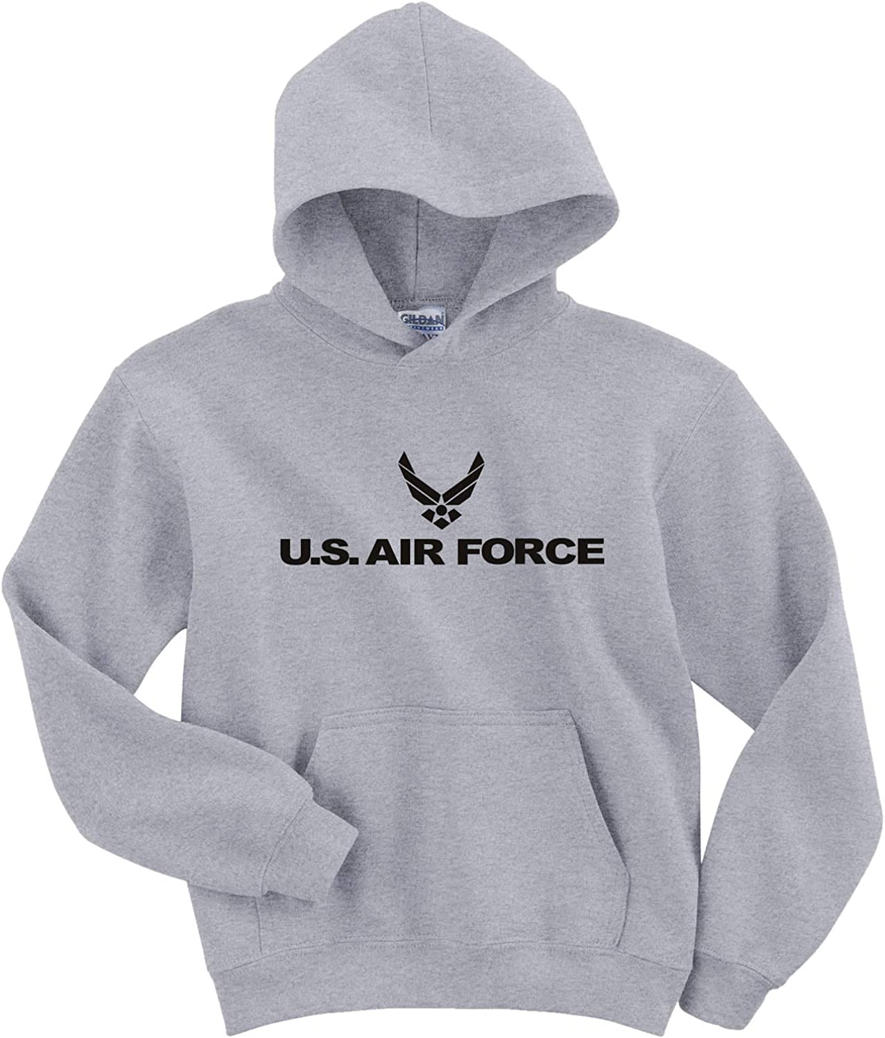 Youth Air Force Hooded Gray Sweatshirt Popular brand in the world in Excellent