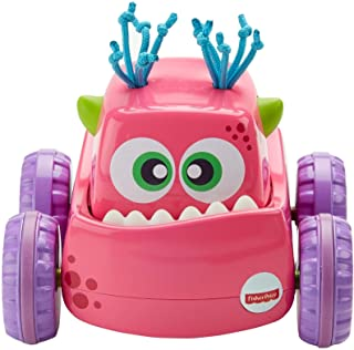 Fisher-Price Press 'N Go Monster Truck, color rosa.