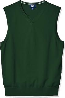 Men's Cotton-Rich Lakemont Anti-Pilling V-Neck Sweater Vest