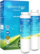 Waterdrop NSF 53&42 Certified Refrigerator Water Filter, Compatible with GE MSWF, 101820A, 101821B, 101821-B, Advanced, Pack of 2