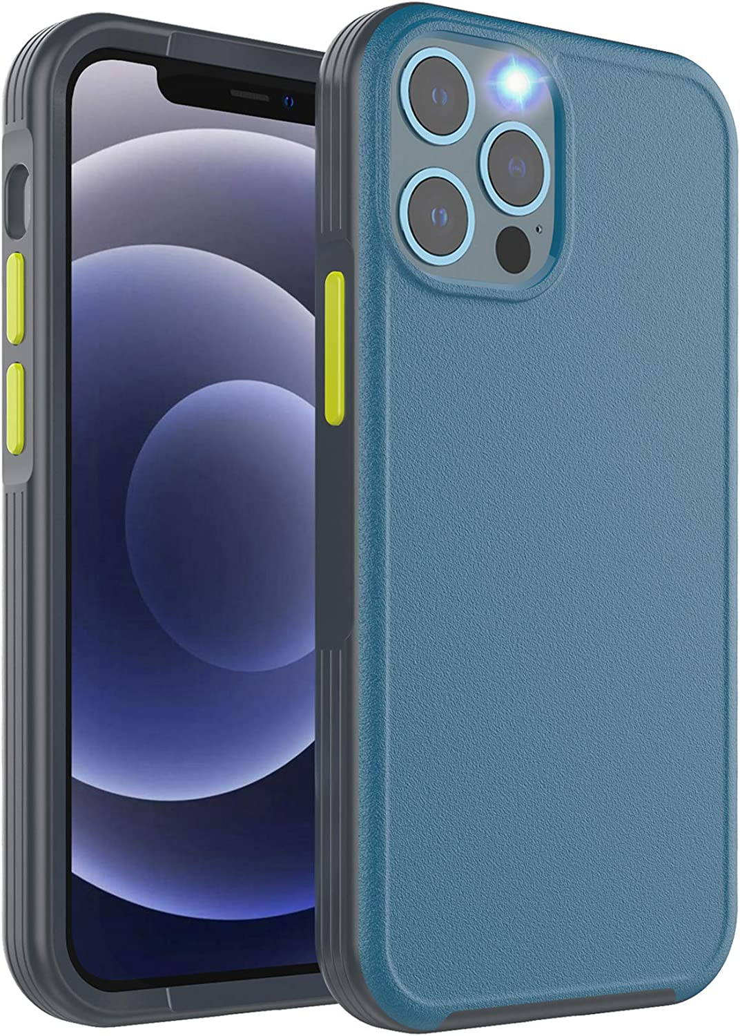 ykooe Shockproof Compatible iPhone 12 Pro Max Case 6.7