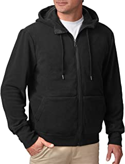 Hoodie Microfleece - Black Sweatshirt for Men with 21 Pockets - Travel Clothing