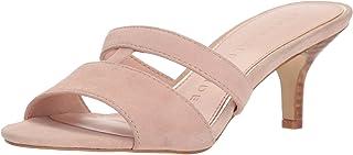 Athena Alexander Women's BOZRAH Heeled Sandal, Blush Suede, 7.5 M US