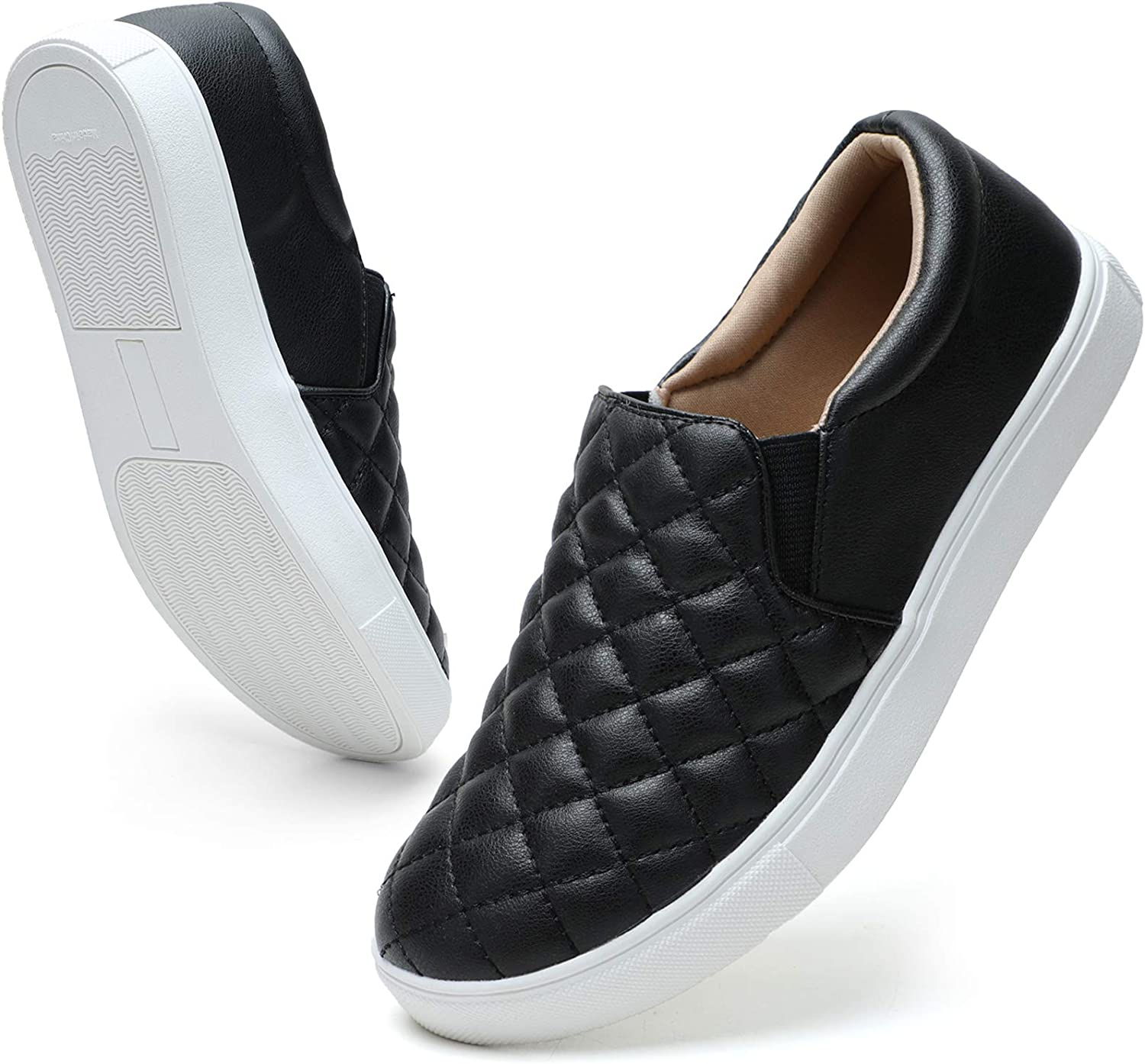 STQ Loafers for Women Memory Foam Slip On Sneakers Comfort Fall Shoes
