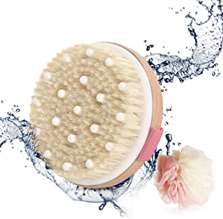 Sincher Bath Brush Wet and Dry Exfoliating Shower Brush Use for Home (Pink)