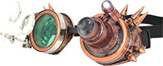4sold Soudage Cosplay Goth Rustique Rivet Vintage Nouveauté Lunettes Premium Qualité Lunettes Steampunk Lunettes Cyber Lun...