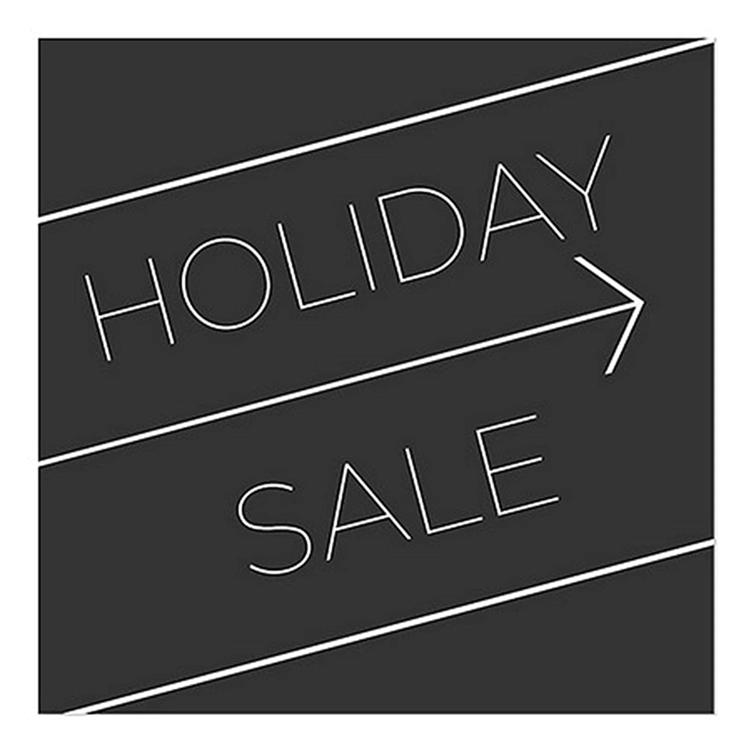 Basic Black Clear Window Cling CGSignLab 5-Pack 24x24 Holiday Sale