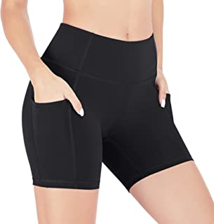 Heathyoga Workout Shorts for Women with Pockets Biker Shorts for Women High Waisted Yoga Shorts Athletic Running Shorts