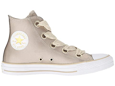 Hi Metals Gold Star All White Taylor Chuck Eyelets Metallic Gold Big WhiteMetallic Converse Heavy Silver Silver vq80twvx