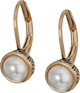 The Sak - Pearl Leverback Earrings
