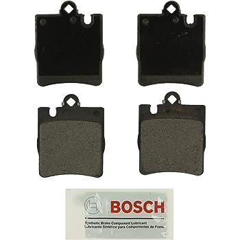 1996-00 C280 2001-04 SLK320; Front 1998-04 SLK230 Bosch BP710 QuietCast Premium Semi-Metallic Disc Brake Pad Set For Mercedes-Benz: 1999-00 C230 1995-97 C36 AMG 1996-97 E300