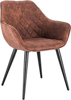 WOLTU BH231br-1,1 Chaise de Salle à Manger Moderne Chaise de Cuisine en Tissu Scientifique et métal,Brun